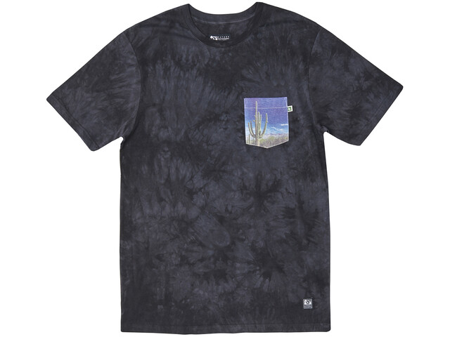 Hippy Tree Saguaro Cloud Wash T-Shirt Heren, asphalt
